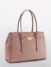 calvin klein womens olivia metro large shoulder bag satchel handbag stucco