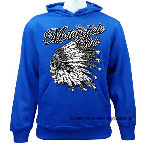 Native American Indians Morotcycle Club Casual Graphic Pullover Hoodie