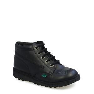 Kickers Kick Hi Y Black Youth Boots