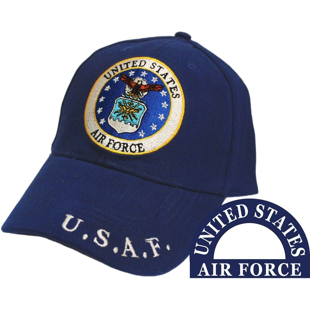 United Air States Air United Force Eagle Logo Blue Hat U.S.A.F. Cap fa2526