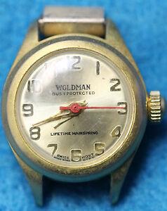 WOLDMAN / CLARO Swiss 1 Jewel Mechanical Watch Movement In Case
