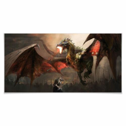 Poster Drachenkampf