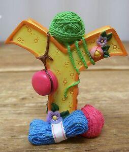 Mary Engelbreit Letter Y Yarn Decorative Resin ME INK Figurine Figural