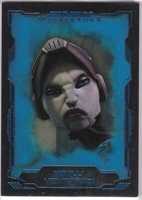 STAR WARS 2016 TOPPS MASTERWORK #36 ASAJJ VENTRESS BLUE PARALLEL BASE CARD //199