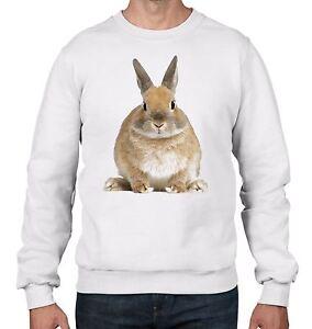 Bunny Rabbit Men's Sweatshirt Jumper  - Cute Gift Present
