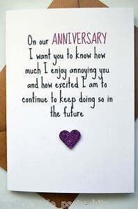 Funny Anniversary Card Greetings Card Cheeky Fun