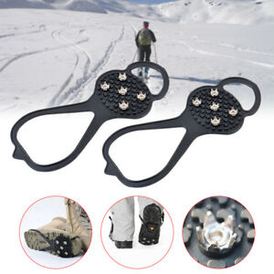 1-Pair-Silicone-Climbing-Non-slip-Shoe-Grip-Ice-Snow-Grips-Cleat-Over-Crampons
