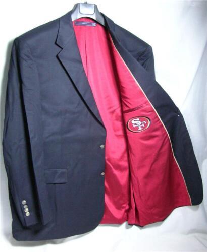 Tall Regular San Francisco 49ers Team Blazer Licensed Logo Sport Coat Short