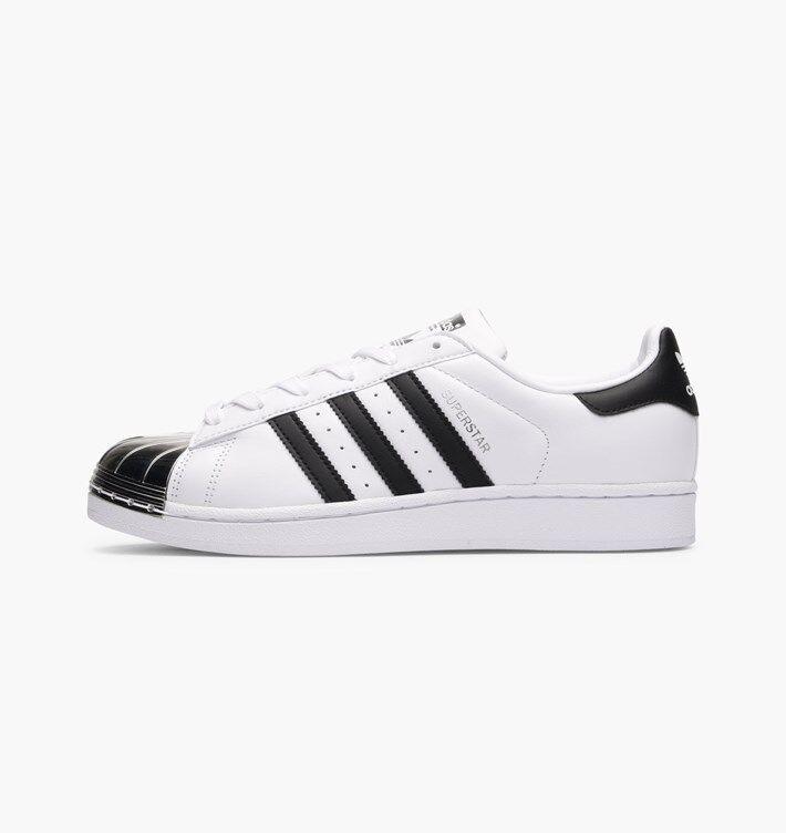 Adidas Originals superstar metal toe-Blanc Noir Argent-BB5114-UK 8.5, 9