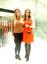 Karen-Millen-Arancione-con-cerniera-anteriore-Fit-Flare-Una-linea-Mini-Abito-da-sera-8-36-NUOVI miniatura 1