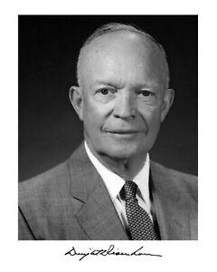 Dwight Eisenhower Autograph 8 x 10 Photo Picture