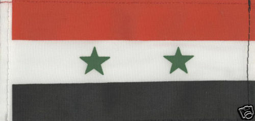 SYRIA  6inch x 3inch  Quality Satinette Table Flag