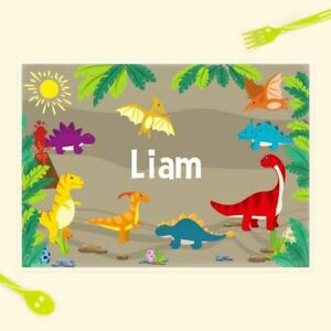 Kids Personalised Placemat 13 Designs Available Laminated Wipe Clean Place Mat Ebay