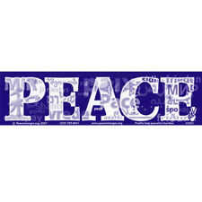 S011 Globalize PEACE Large Bumper Sticker