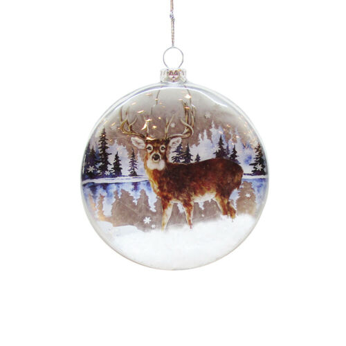 Wildlife Glass Disc Ornament