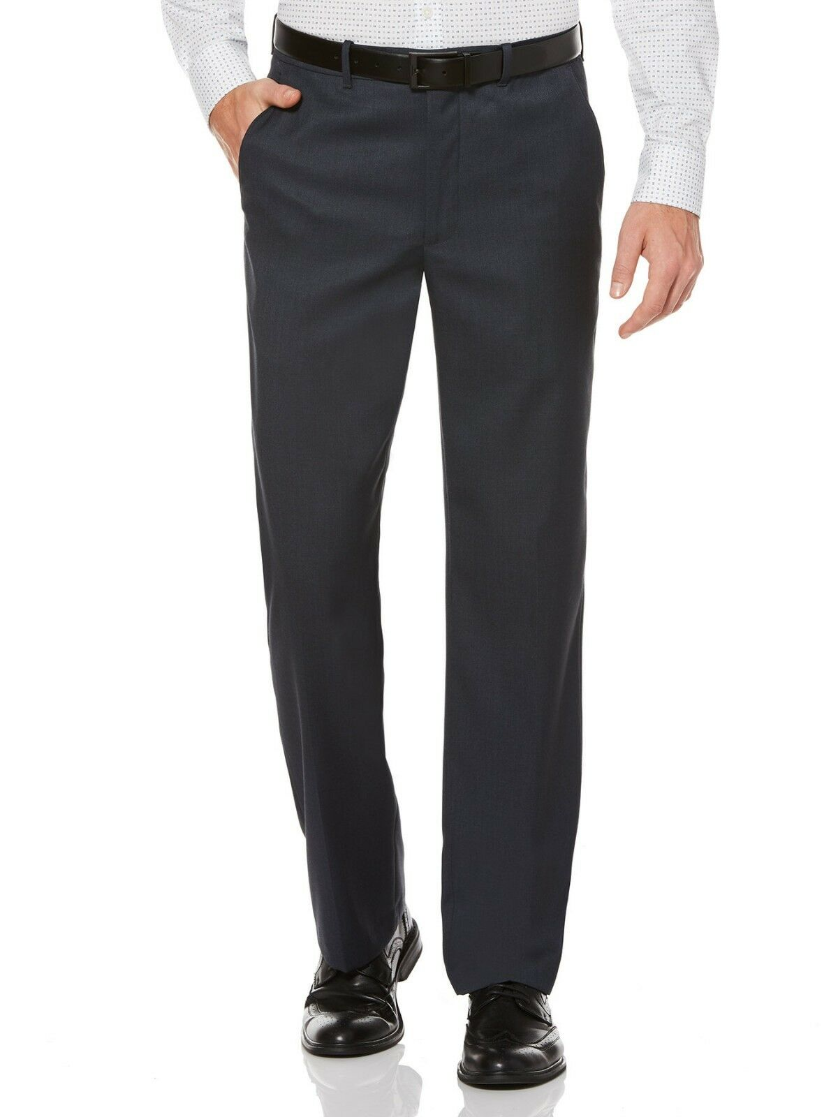 PERRY ELLIS PORTFOLIO men blueE FIT FLAT FRONT SUIT DRESS PANTS 44 W 30 L