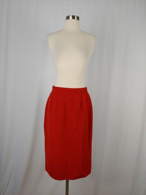 Worth Size 8 orange Camel Hair Straight Pencil Wiggle Skirt