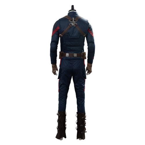 Avengers 4 Endgame Captain America Costume Cosplay Steven Rogers Suit Uniform