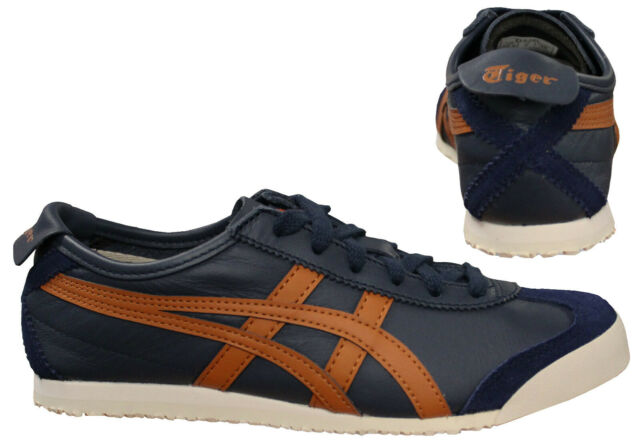 pretty nice 5f88c 30589 Onitsuka Tiger Mexico 66 Mens Unisex Low Top Navy Trainers D4J2L 5831 D5