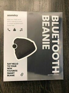 SOUNDAY berretto cuffia bluetooth beanie riproduzione musica chiamate black