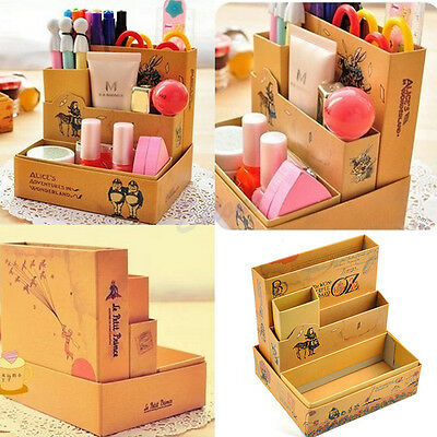 Paper Board Fairy Tale DIY Storage Box Desk Stationery Makeup Cosmetic Organizer