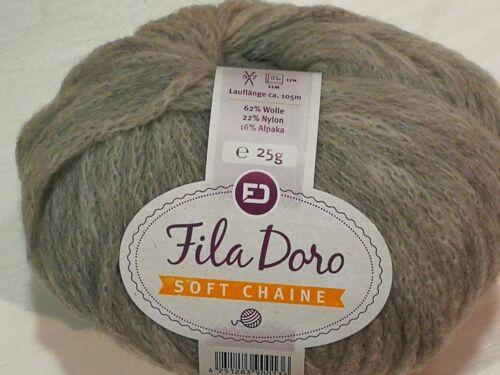 25g fila Doro lana Soft chaine flauschgarn invierno alpaca merino mezcla