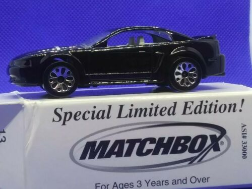 Two Matchbox Promo Edition 99 Black Mustang Advertising diecast 1:64 scale rare