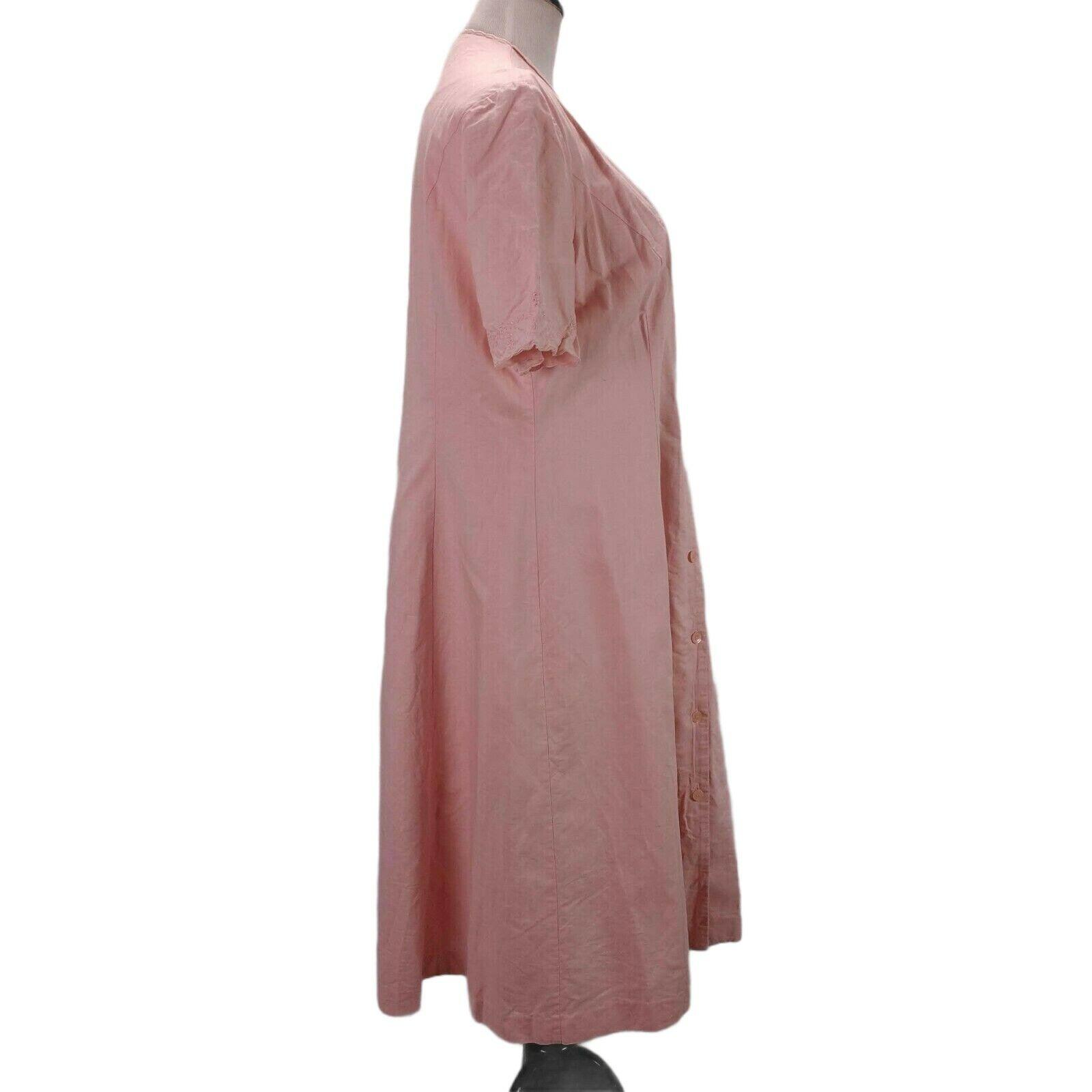 Vintage Laura Ashley Linen Eyelet Dress Size 14 P… - image 3