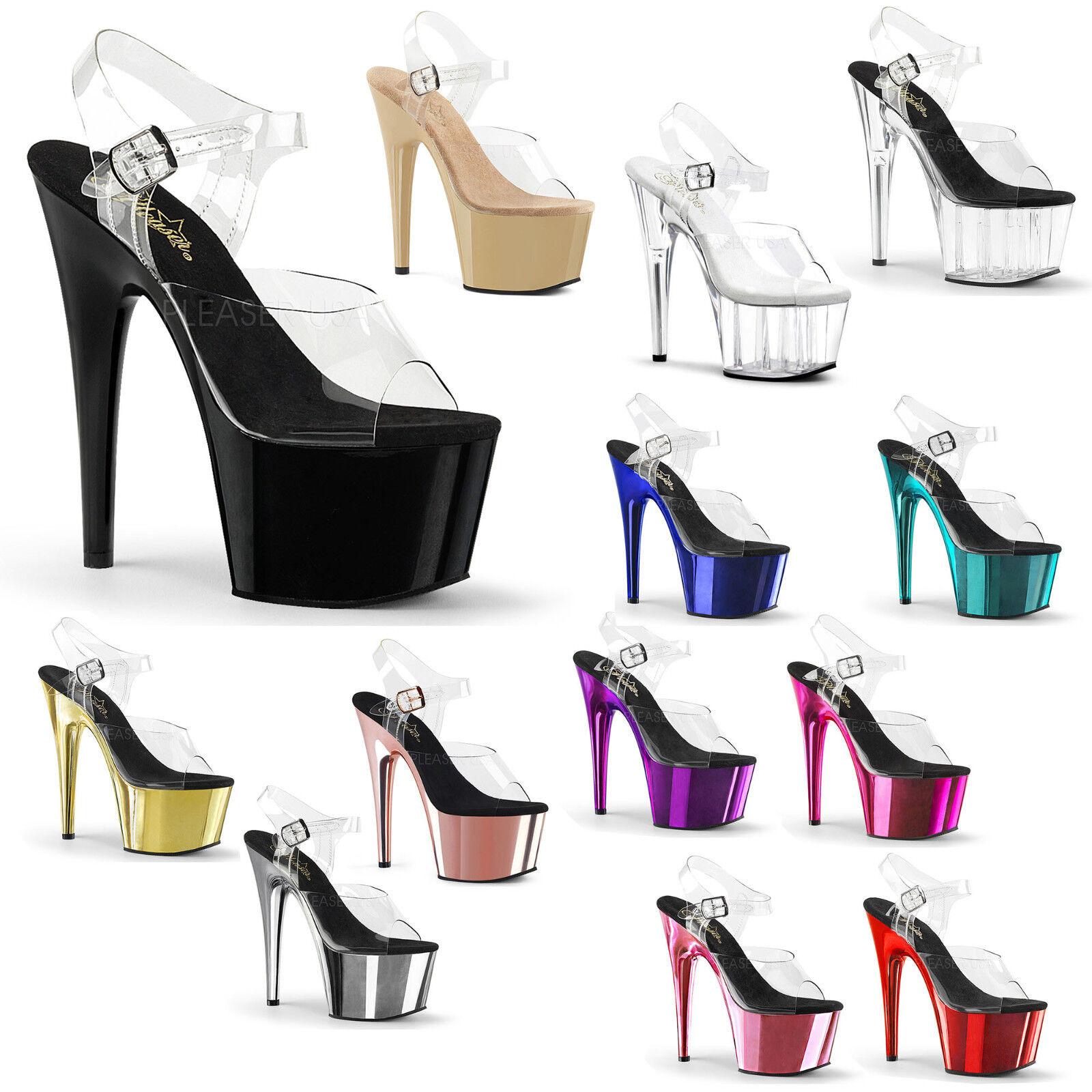 PLEASER - Adore-708 Stiletto Heel Ankle Strap Platform Sandal schuhe
