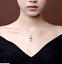 Women-039-s-16-48CT-naturale-acquamarina-925-Argento-Sterling-Matrimonio-Collana-Ciondolo miniatura 11
