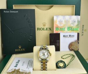 ROLEX - LADIES 18kt Gold & SS Datejust 26 MOP Diamond Bezel 179313 - SANT BLANC