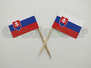 72-Slovak-Flag-Picks-Buffet-Sandwich-Food-Party-Sticks-SLOVAKIA-Flags