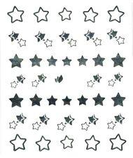 One Stroke Sticker,Silber,Sterne,Tattoo, Aufkleber  Nr.1338