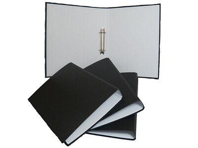 2x A4 Presentation Ring Binders Files Folders BLACK Document Storage Wallets