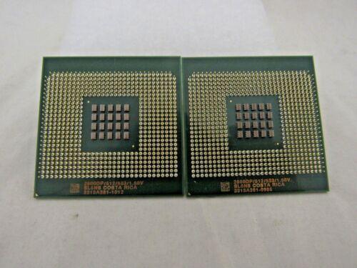 Lot of 2 Intel Xeon 2800DP SL6NS Processor CPU PGA604 512KB 2.80GHz 533MHz ¢4