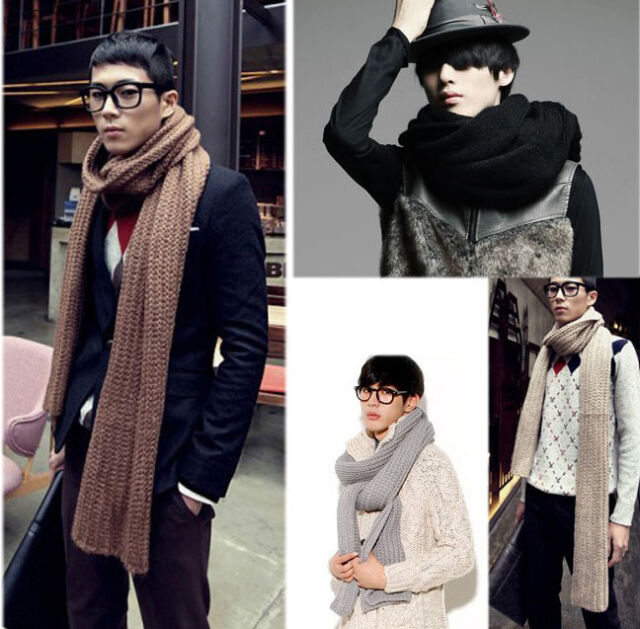 New Men's Unisex Winter Warm Casual Couples Lovers Knitting Wool Long Scarf Wrap