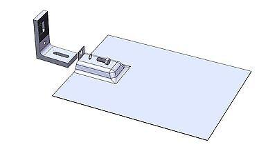 Magerack 10 L-Foot Feet Bracket /& Flashing Solar Panel Install Mount Rack 5//16