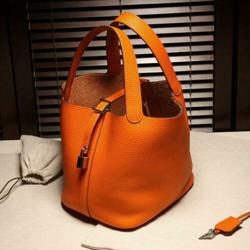 Women Leather Handbag Tote Shoulder Messager Bag  basket  bag