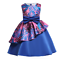 Girls Ruffled Flowers Print Sleeveless Bow-knot Party Birthday Fancy Dress ZG8