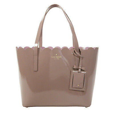 Kate Spade Lily Avenue Carrigan Patent Leather Small Tote - Porcini