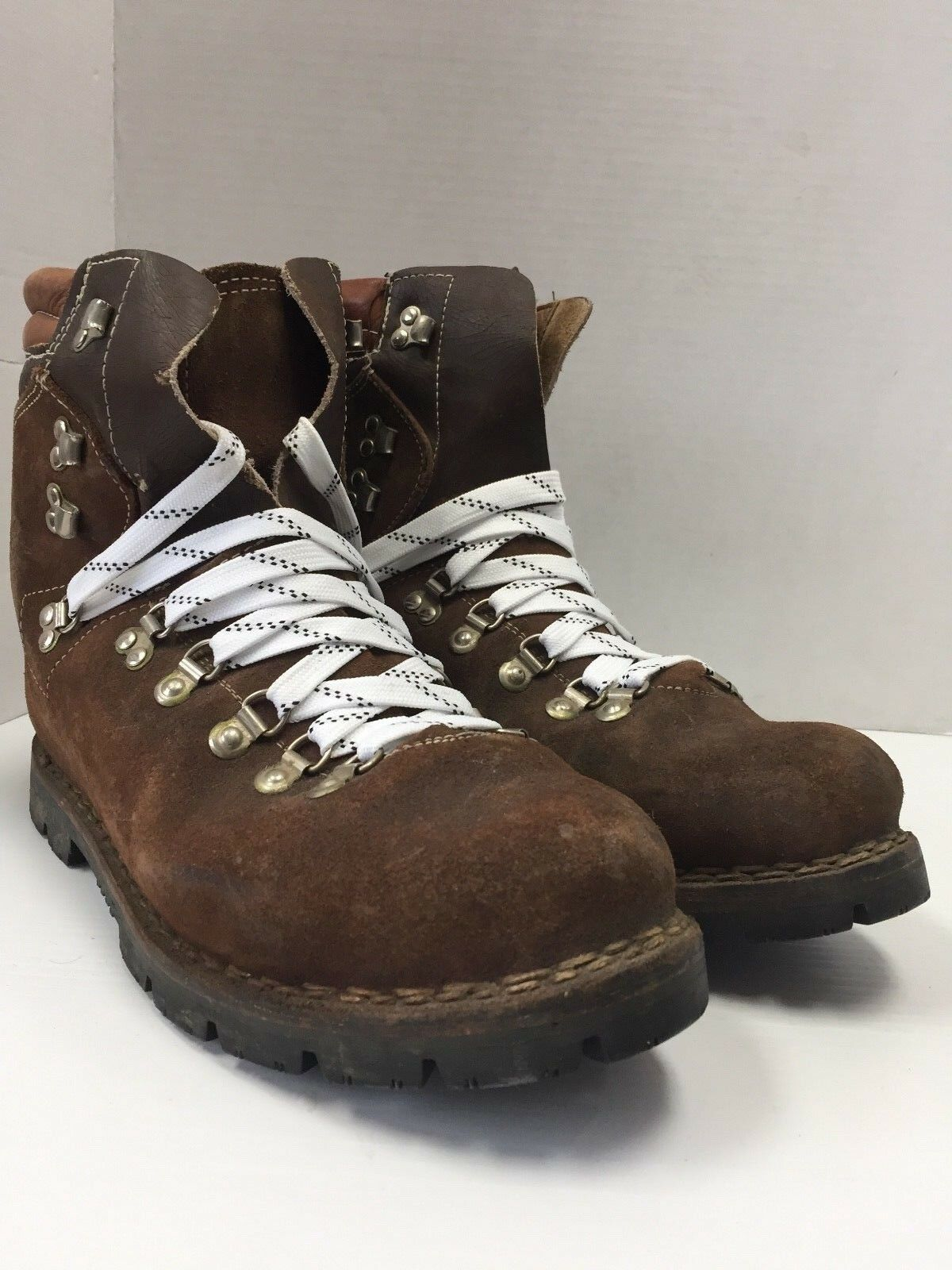 Vintage colorado Brown Leather Lace up Mountaineer Traill Boss hiker boots 12 47