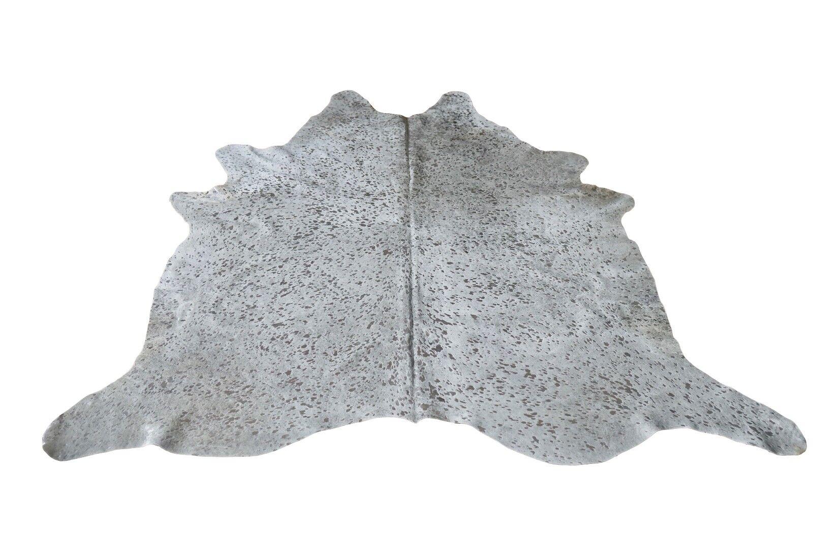 Peau 196 rinderfell Metallic gris clair argent-environ 227 cm X 196 Peau cm, Rug, Neuf 99b2a2