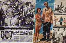 James Bond Man lebt nur zweimal Dreharbeiten Japan Hubschrauber Sean Connery ´66