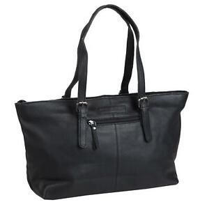 Greenburry-Boomer-Handtasche-Ledertasche-Tasche-schwarz