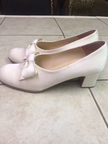 Vintage Sz Kenneth Victorian Cole 81 con Fabric 2 White Cream fiocco pumps Uwg5wzqZ