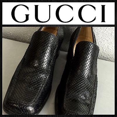GUCCI Black Snakeskin Python Leather