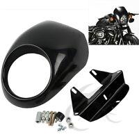 Cafe Drag Headlight Fairing Custom Visor For Harley Sportster Dyna Fx/xl Fork Us