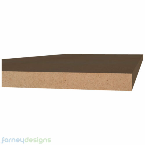 """Pack of six 8/"""" x 4/"""" Rounded Plaques in 6mm MDF Choice of edge styles and holes."""