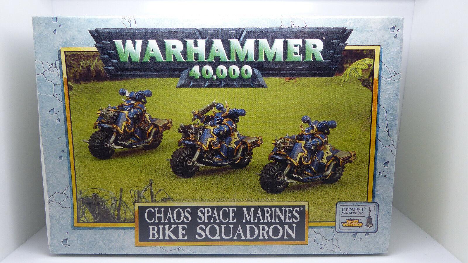 WARHAMMER 40K Chaos spazio Marine Bike SQUADRONE  in Mettuttio Nuovo di zecca con scatola SIGILLATO oldhammer fuori catalogo  Garanzia del prezzo al 100%