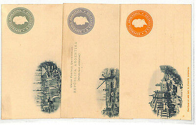 Stamps Postal Stationery Original Dd292 1900s Argentina Early Picture Postcard Stationery X3 Ppc {samwells-covers} Be Friendly In Use